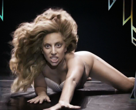 Gaga looks like she wants to grab the audience and bring ... Lady Gaga Applause Promo