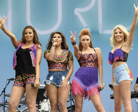 The Saturdays on stage at V Festival 2013