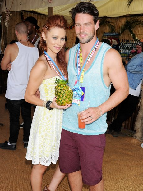Una Healy and Ben Foden in Mahiki bar at V Festival