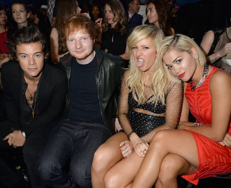 Harry Styles, Ed Sheeran, Ellie Goulding at the VMAs