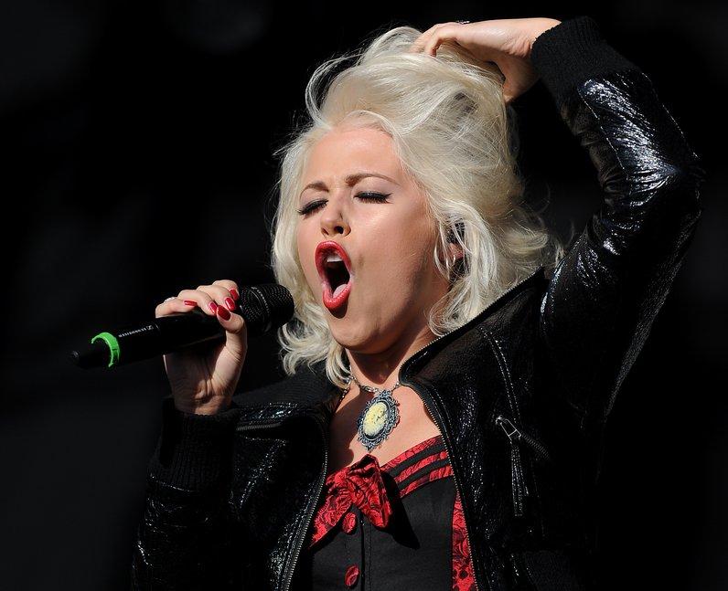The former X Factor star performed Vodafone Big Top 40 hit 'You Bring Me Joy'