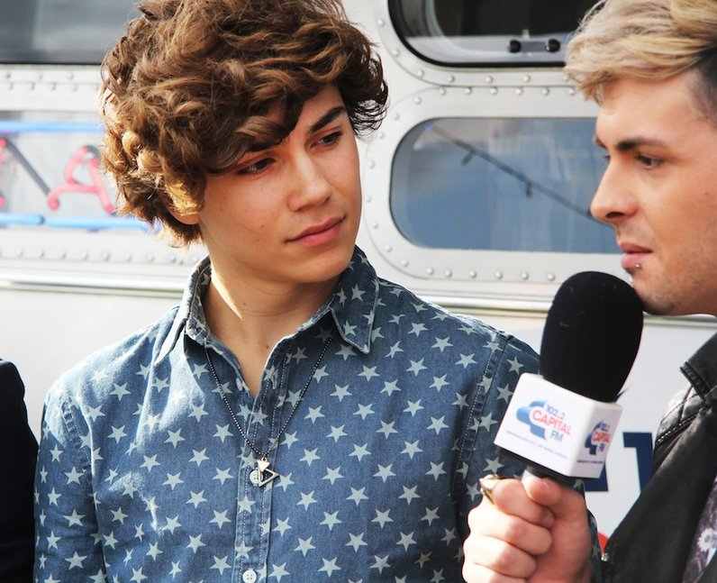 Union J during their Capital FM radio interview backstage at Fusion Festival 2013