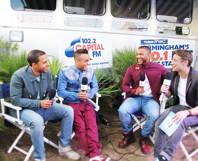 JJLS during their Capital FM radio interview backstage at Fusion Festival 2013