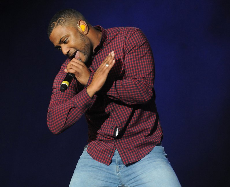 JLS's JB live on stage at Fusion Festival 2013 in Birmingham