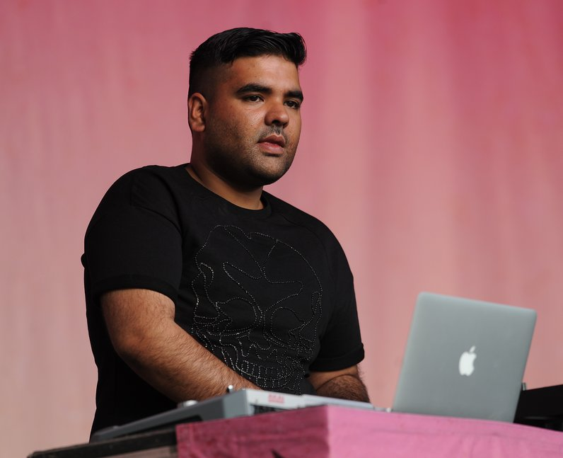Naughty Boy on stage at Fusion Festival 2013 in Birmingham