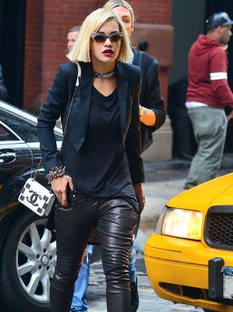 Rita Ora wearing sunglasses