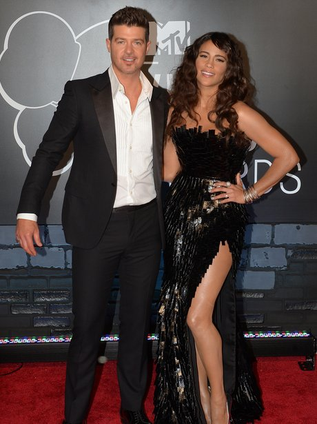 Robin Thicke Paula Patton MTV VMAs 2013