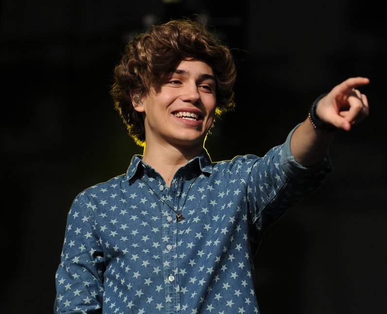 Union J star George Shelley live on stage at Fusion Festival 2013