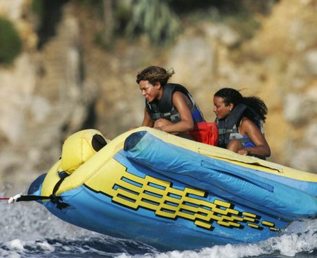 Beyonce doing water sports