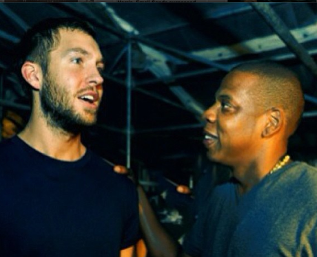 Calvin Harris and Jay Z Instagram