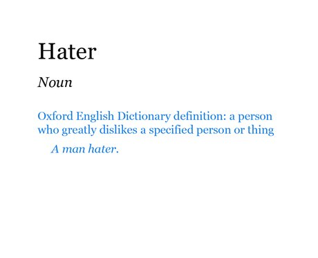 Pop Dictionary: Hater