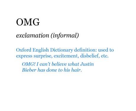 Pop Dictionary: OMG