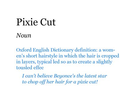 Pop Dictionary: Pixie Cut