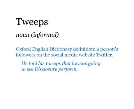 Pop Dictionary: Tweeps