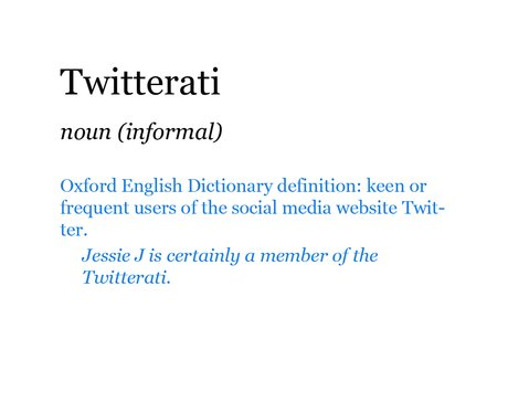 Pop Dictionary: Twitterati