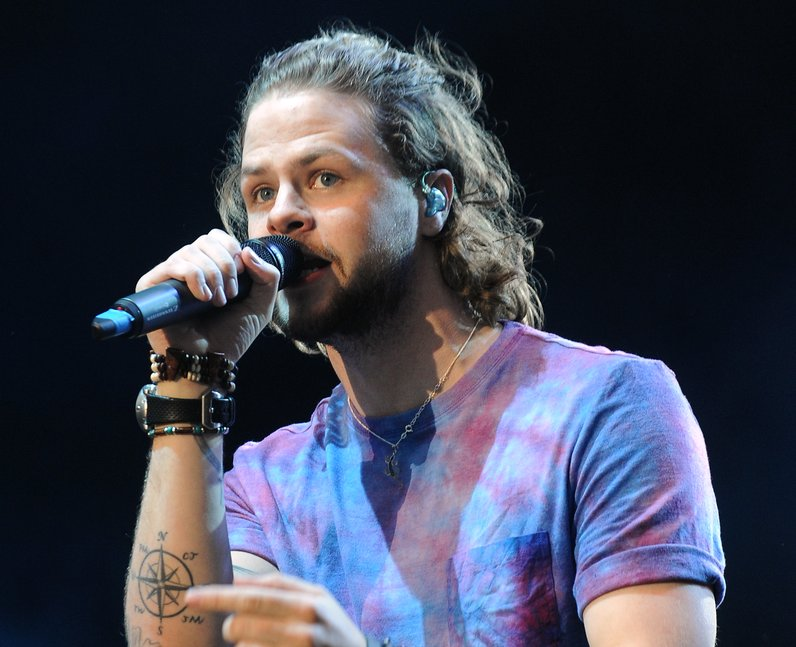 The Wanted's Jay McGuiness live on stage at Fusion Festival 2013