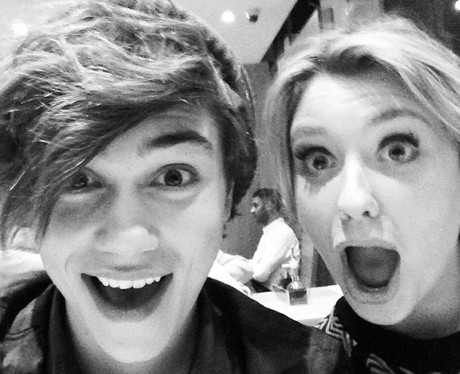 George Shelley and Ella Henderson hang out together
