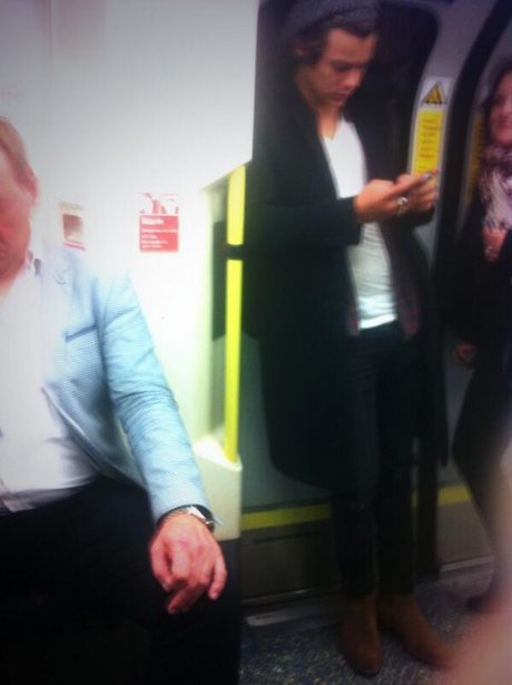 Harry Styles on the tube