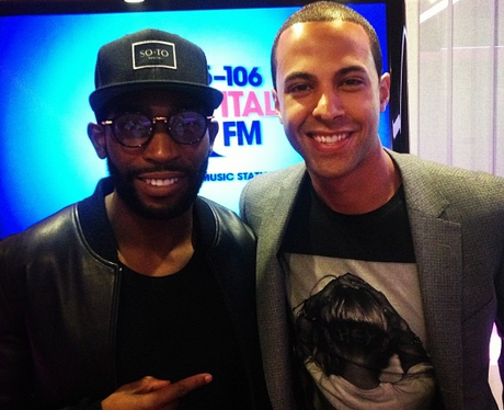 Marvin meets Tinie Tempah at Capital FM