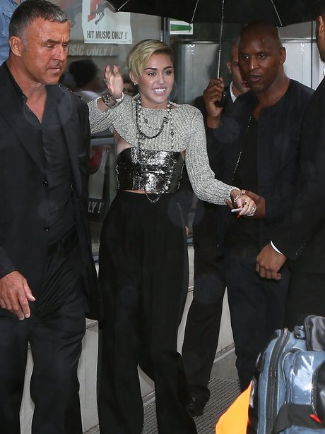 Miley Cyrus pictured in Paris