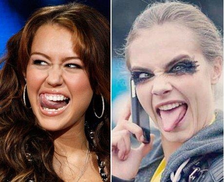 Miley Cyrus 'v' Cara Delevingne
