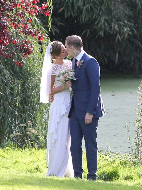 Professor Green and Millie Mackintosh on their wedding day