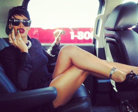 Rihanna in a plane during her travels