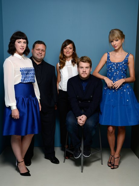 Taylor Swift and James Corden
