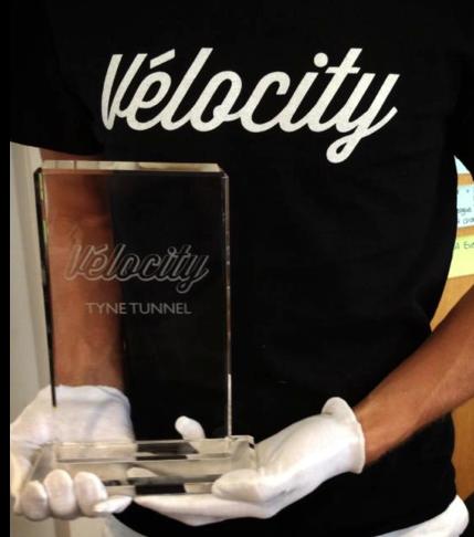 Velocity bike street race trophy
