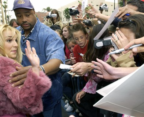 Britney Spears meets her fans at an event