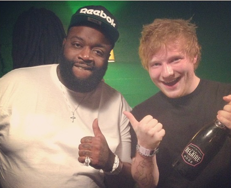Ed Sheeran hanging out with Rick Ross