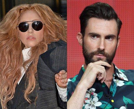 Lady Gaga And Adam Levine