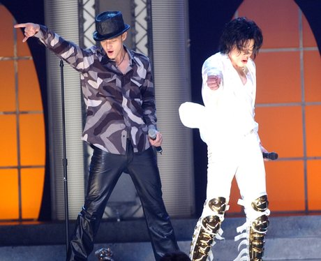 Michael Jackson and Justin Timberlake