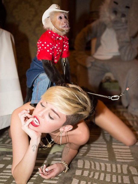 Miley Cyrus and Monkey