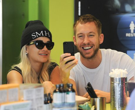 Rita Ora and Calvin Harris in LA