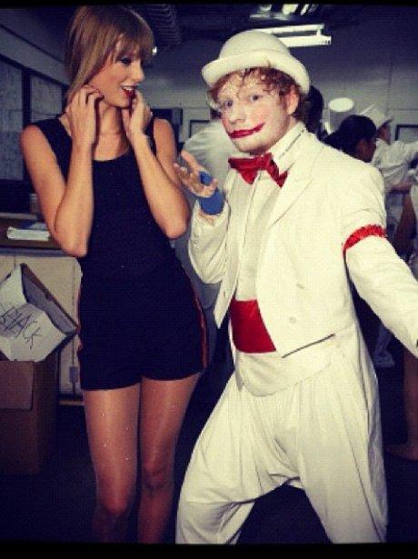 Tayler Swift and Ed Sheeran on the 'Red' tour