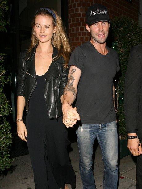 Adam Levine and Behati Prinsloo at dinner