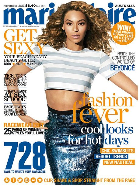 Beyonce Marie Claire Australia October 2013