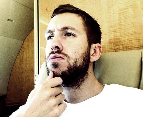 Calvin Harris shows off his beard