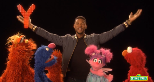 Usher Sings Abc Song With Cast Of Sesame Street Video Capital