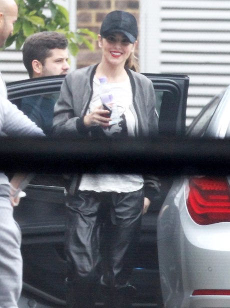 Cheryl Cole smiling in London