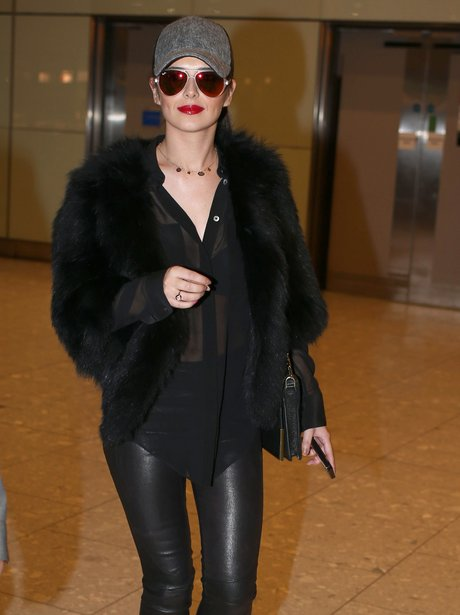 Cheryl Cole arrives at the airport