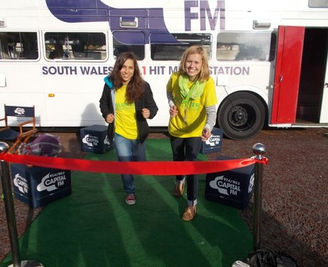 You crossing our Capital FM Finish Line
