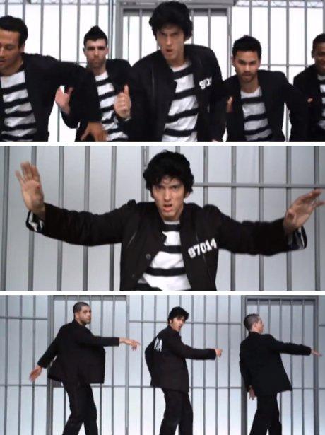 Eminem dancing as elvis