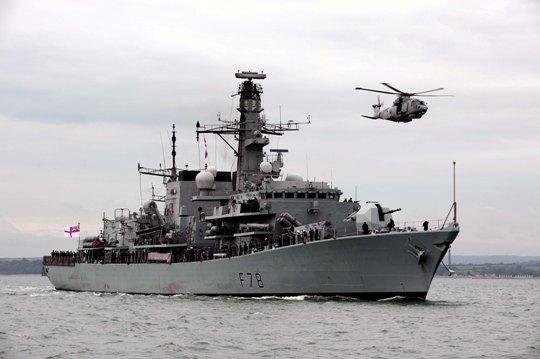 HMS Kent homecoming