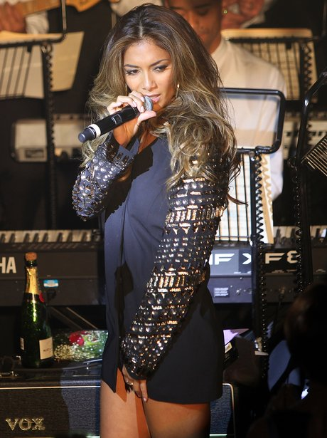 Nicole Scherzinger perform at Cafe de Paris