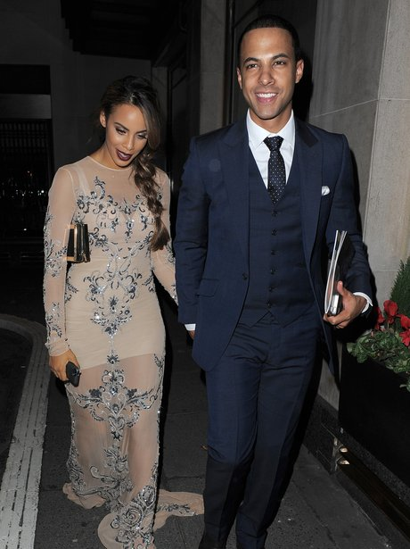 Rochelle and Marvin leaving The Pride Of Britain A