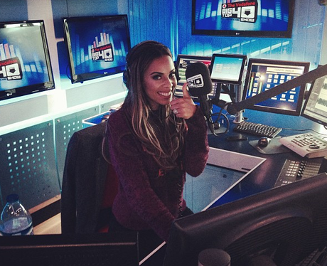Rochelle humes in the capital studio