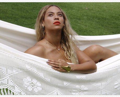 Beyonce in a hammock