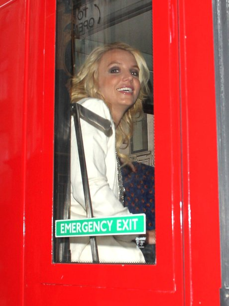 Britney Spears on a London bus